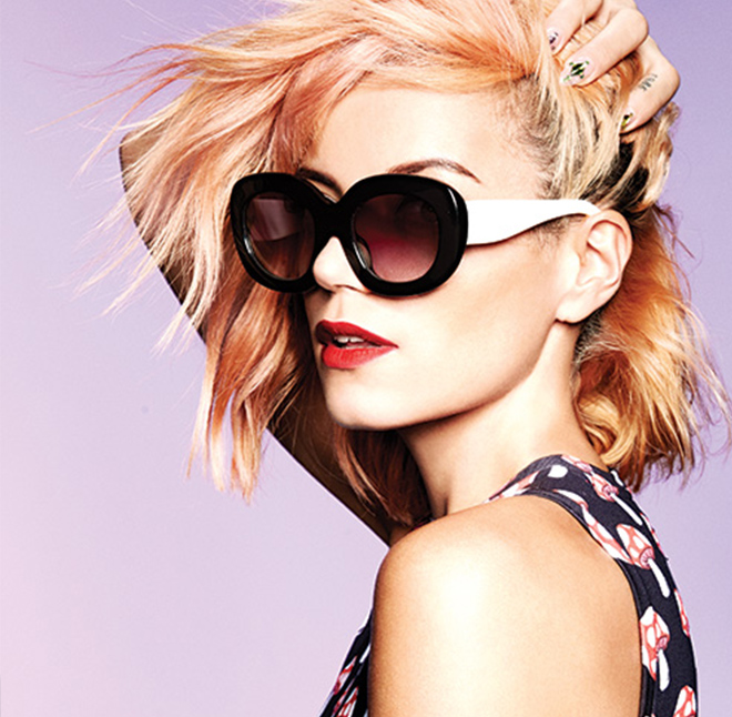 Lily Allen for House of Holland sunglasses collection