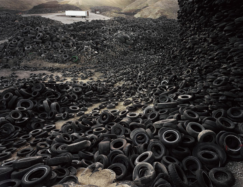 Oxford Tire pile #1 Edward-Burtynsky Flowers Gallery