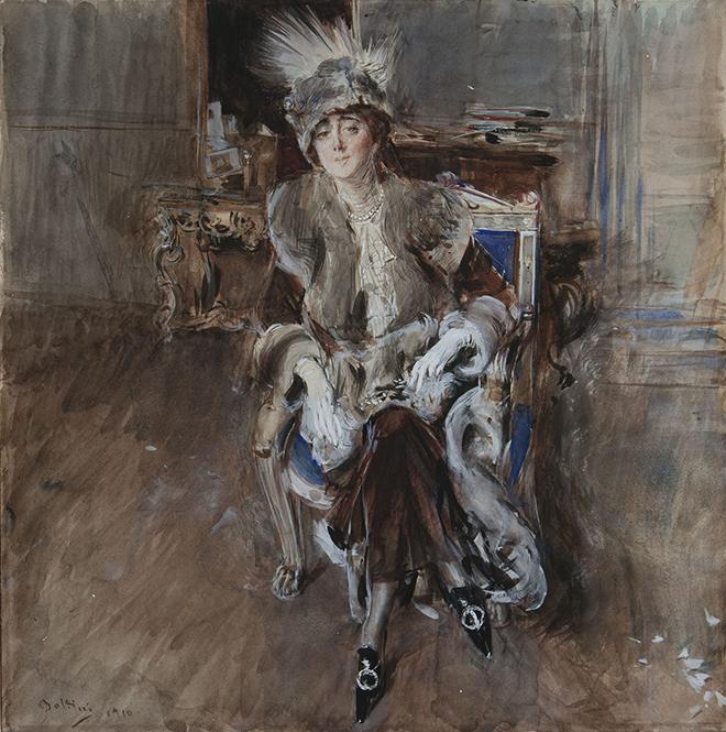 Giovanni Boldini Portrait of Lady Lacroix 1910. Bottegantica