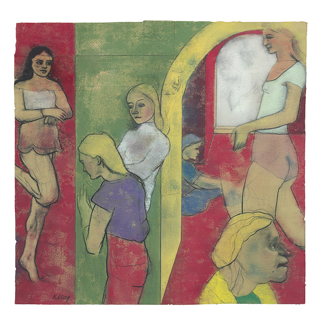 R.B. Kitaj Sighs from Hell 1979. Pastel and carcoal on joined sheets of paper. Thomas Gibson Fine Art