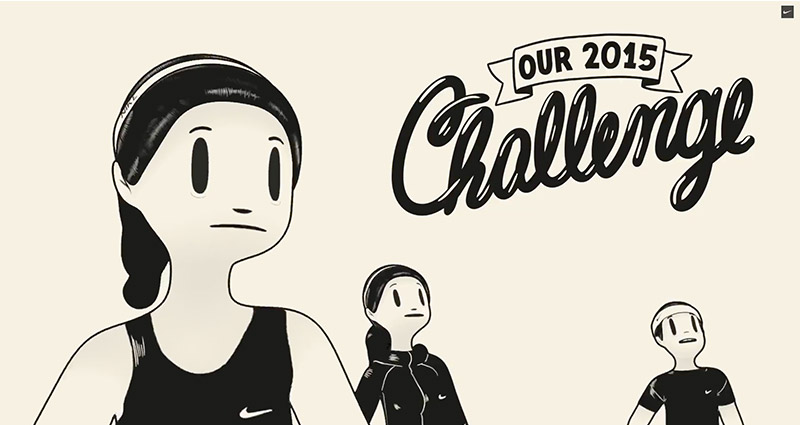 Nike campaign inspirational videos designed by McBess