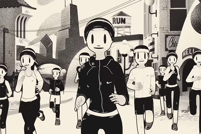 Nike campaign with illustrator McBess