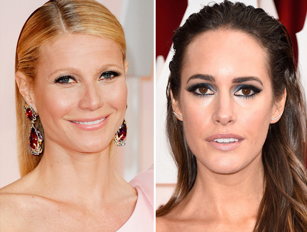 Louise Roe and Gwyneth Paltrow Oscars 2015 Getty