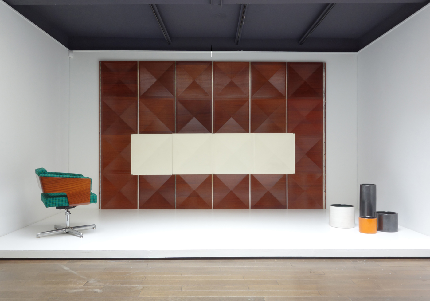 Antoine Philippon and Jacqueline Lecoq Pointe de Diamant Wall and Cabinet 1964 Jousse Entreprise