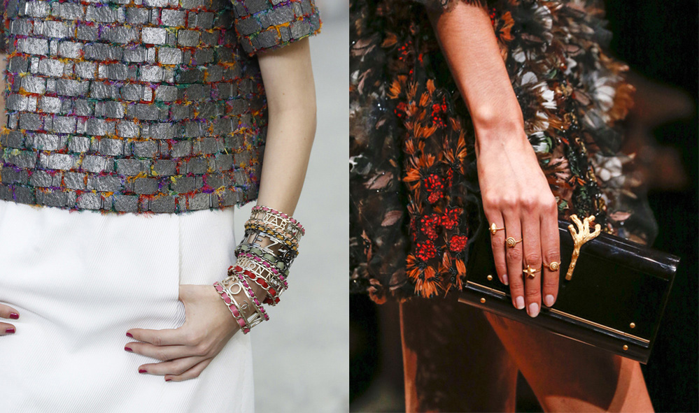 jewellery Chanel and Valentino Paris Fashion Week SS16 2015