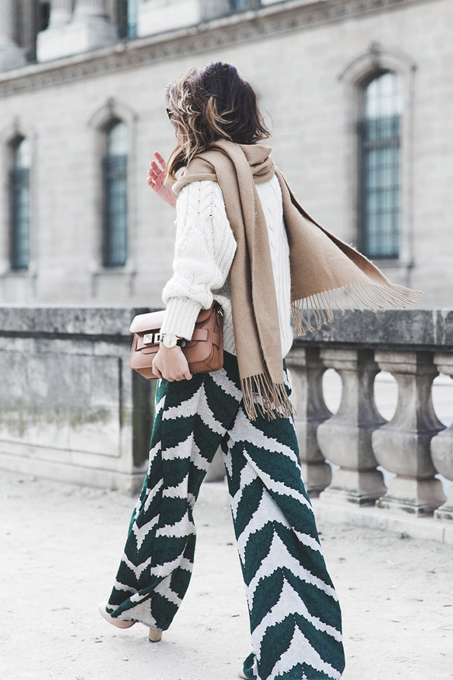 Collage Vintage Palazzo Trousers-Maje Knitwear-Scarf-Proenza Schouler-Outfit-Street Style-25-790x1185