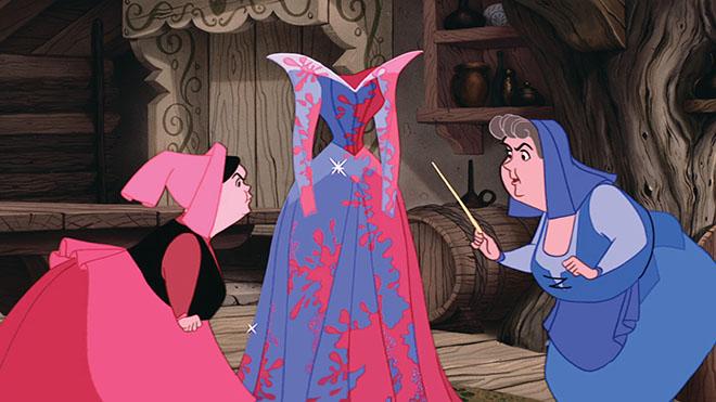 Pink or Blue spell fight sleeping beauty prada dress