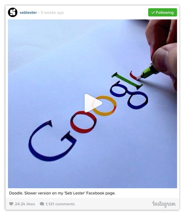 Seb Lester Google logo