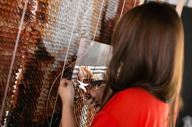 Hong Yi Red Malaysian artist creates artwork from teabags