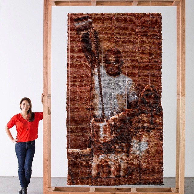 Hong Yi Red Malaysian artist creates artwork from teabags 7