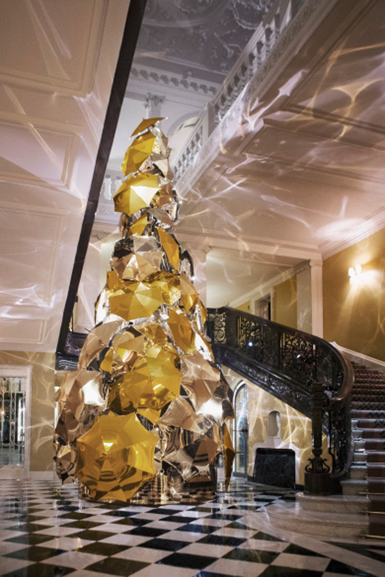 Claridges Christmas Tree by Burberrys Christopher Bailey
