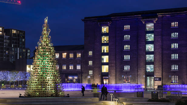 Granary Square christmas tree
