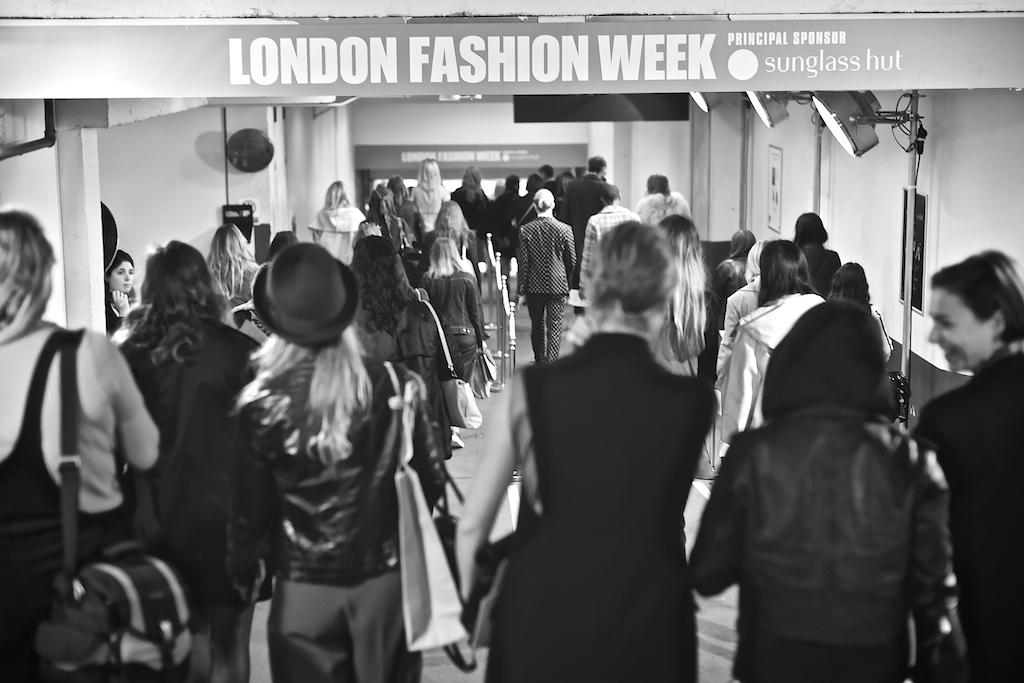 London Fashion Week Shows exit Fashion week photos 2015 ss16