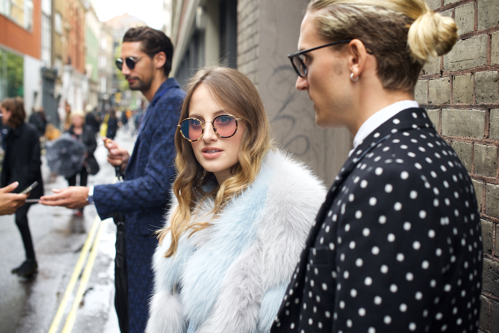 London Fashion week street style photos ss16: Rosie Fortescue - @RosieFortescue Oliver Proudlock @oliverproudlock