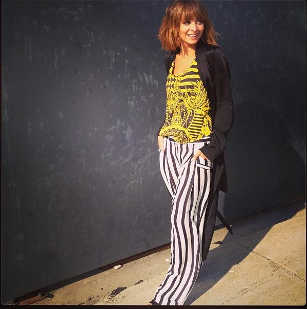 Nicole Richie instagram stripes style