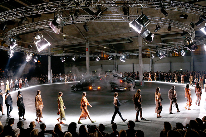 Givenchy SS14, Halle Freyssinet in Paris, France